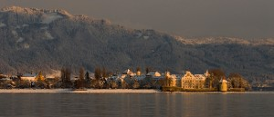 Lindau Westinsel Pulverturm Winter Knipping